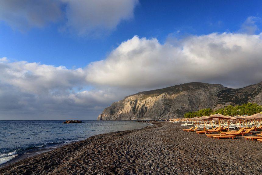 Пляж Камари, остров Санторини