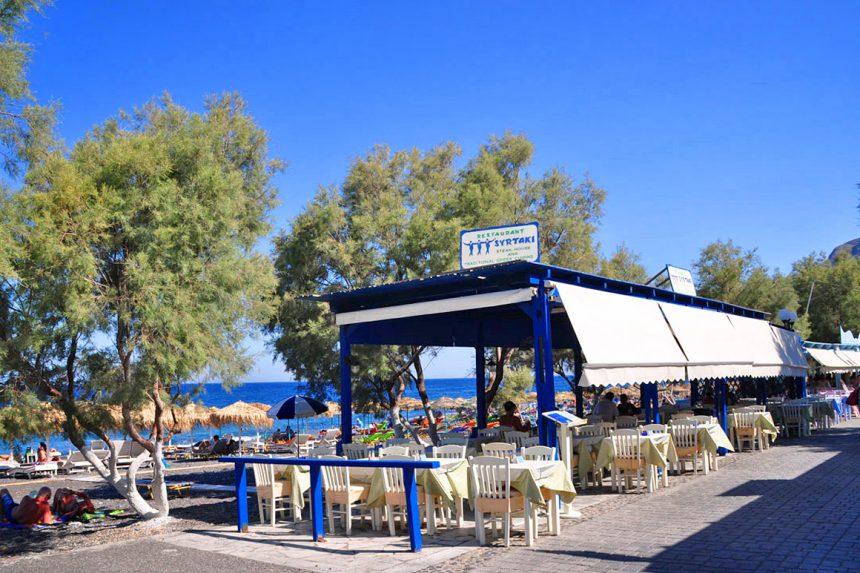 Прибрежные кафе Камари, Санторини